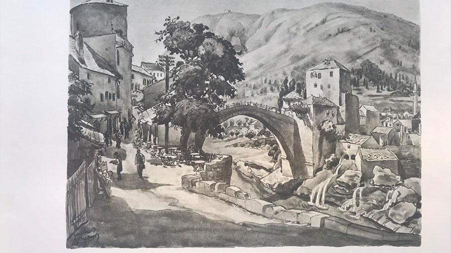 U Muzeju Hercegovina otvorena izložba hrvatskog grafičara Tomislava Krizmana